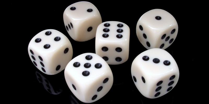 6 kazino kauliukai ir kauliukų žaidimas gal bus laimėtas